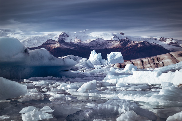 Iceland Glacier - fotokunst von Christian Seidenberg