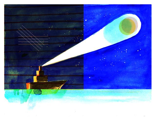 Full moon sail - fotokunst von Alexandra Sternin