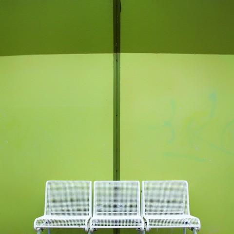 Dei weiße Bank - fotokunst von Alexander Kraft