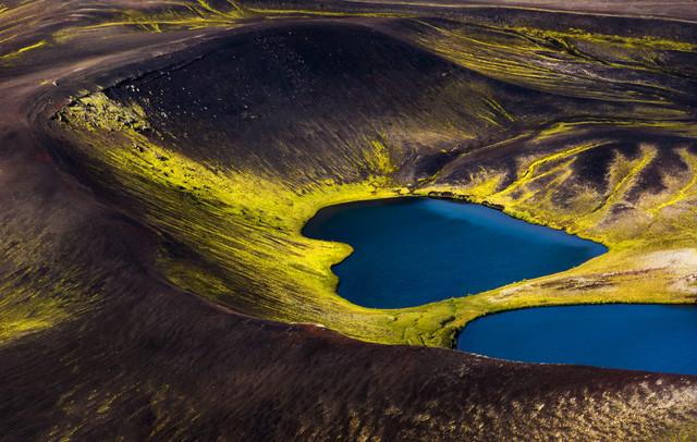 Luftaufnahme von Island - Herz der Natur - fotokunst von Lukas Gawenda
