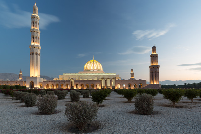 Sultan Qaboos Grand Mosque, Muscat, Oman - fotokunst von Eva Stadler