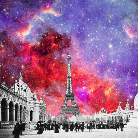 Nebula Vintage Paris - fotokunst von Bianca Green