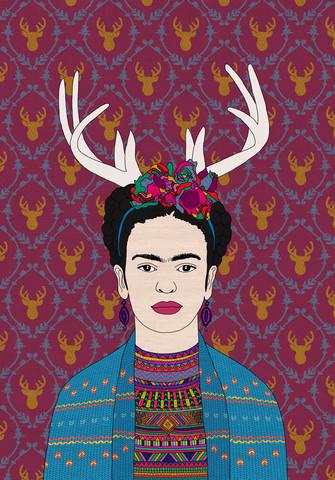 Deer Frida - fotokunst von Bianca Green