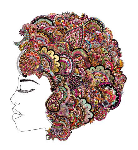 Her Hair - Les Fleur - fotokunst von Bianca Green