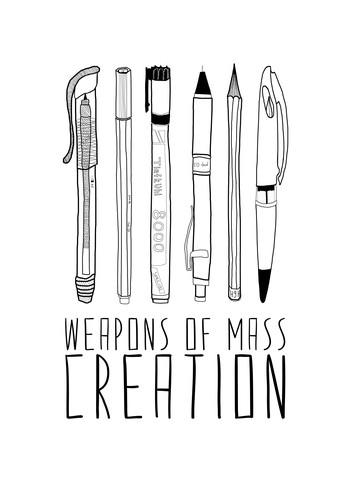 Weapons Of Mass Creation - fotokunst von Bianca Green