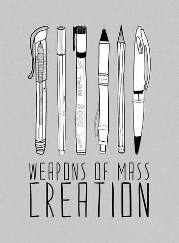 Weapons Of Mass Creation - Grey - fotokunst von Bianca Green
