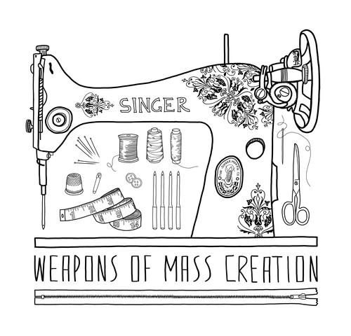 Weapons Of Mass Creation - Sewing - fotokunst von Bianca Green