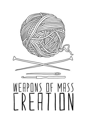 Weapons Of Mass Creation - Knitting - fotokunst von Bianca Green