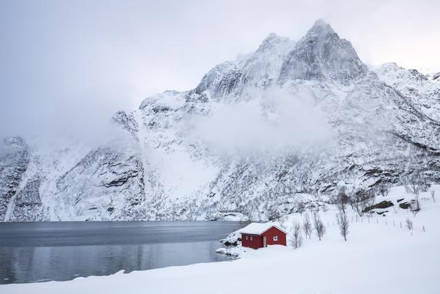 Wintertraum am See - fotokunst von Moritz Esser