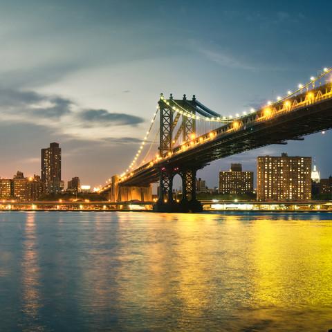 Manhattan Bridge - New York City - fotokunst von Thomas Richter