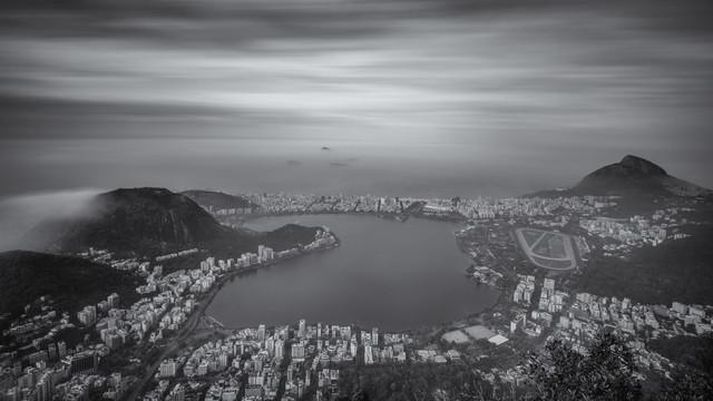 Ipanema Leblon Laguna Panorama Rio de Janeiro - fotokunst von Dennis Wehrmann