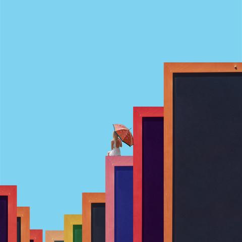 Colorful Blocks - fotokunst von Caterina Theoharidou