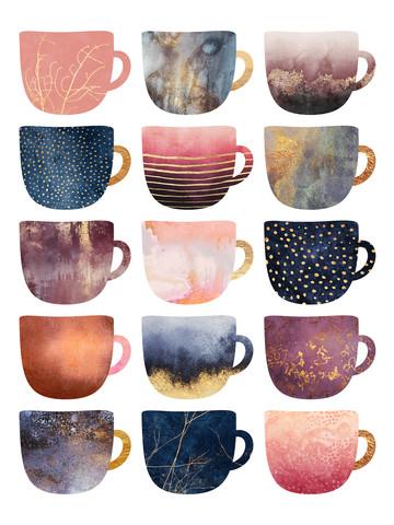 Pretty Coffee Cups 2 - fotokunst von Elisabeth Fredriksson