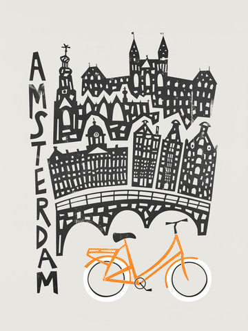 Amsterdam Cityscape - fotokunst von Fox And Velvet