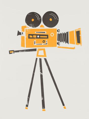 Vintage Cine Camera - fotokunst von Fox And Velvet