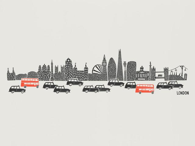 London Skyline - fotokunst von Fox And Velvet