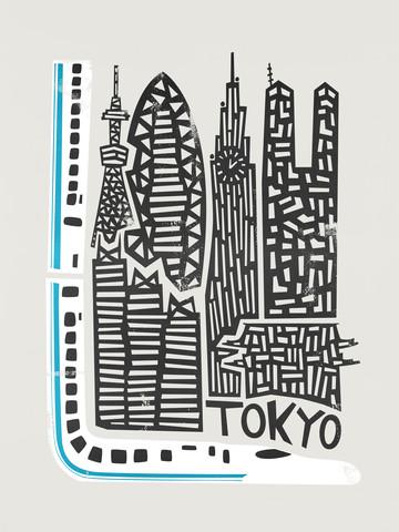 Tokyo Cityscape - fotokunst von Fox And Velvet
