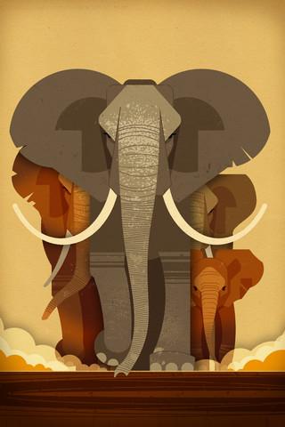 Elefanten - fotokunst von Dieter Braun