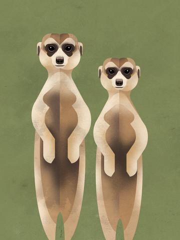 Erdmännchen - fotokunst von Dieter Braun