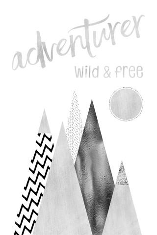 GRAPHIC ART Adventurer - Wild & Free - fotokunst von Melanie Viola
