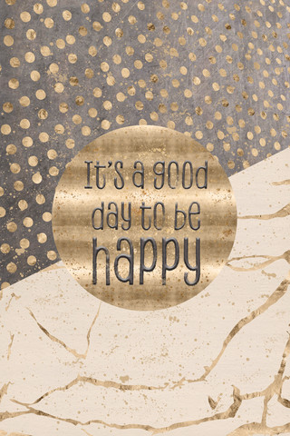 GRAPHIC ART It is a good day to be happy - fotokunst von Melanie Viola