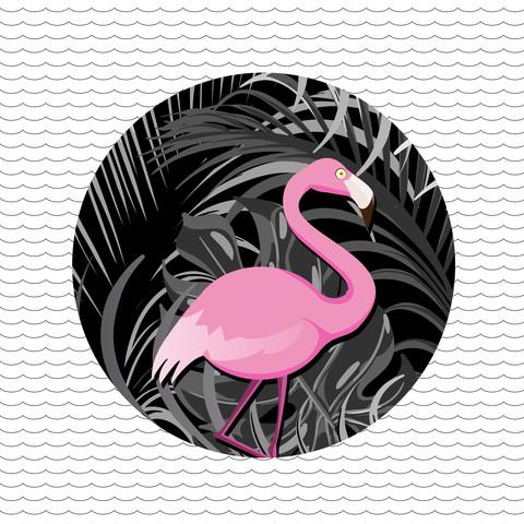 Tropical flamingo - fotokunst von Loulou von Glup