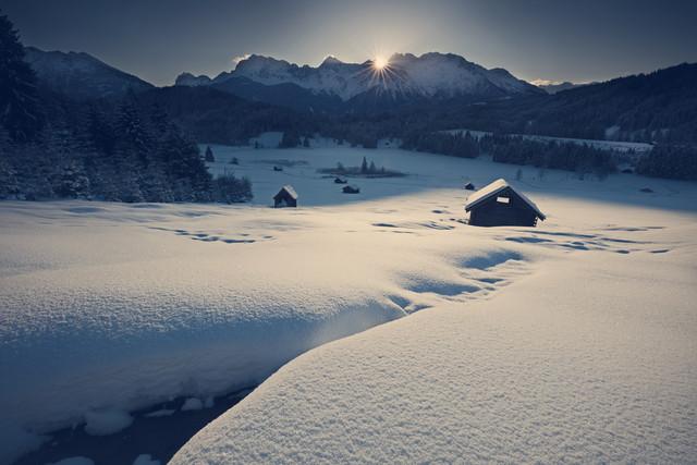 Winterliche Traumlandschaft - fotokunst von Franz Sussbauer