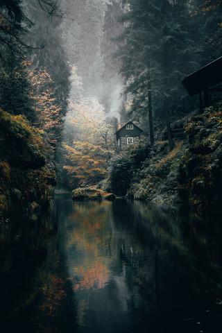 Klammwanderung in der Böhmischen Schweiz. - fotokunst von Johannes Hulsch