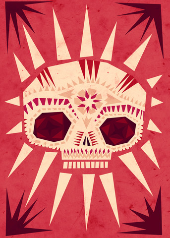 Sugar skull - fotokunst von Sjoerd Piepenbrink