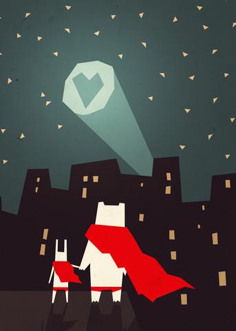 The city needs love - fotokunst von Sjoerd Piepenbrink