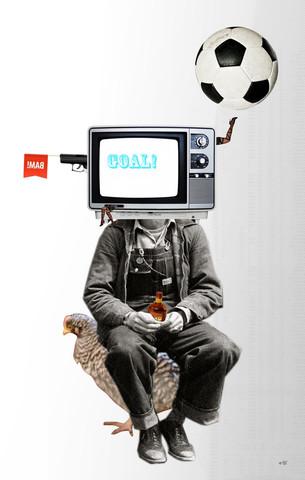 Goal Head Collage - fotokunst von Marko Köppe