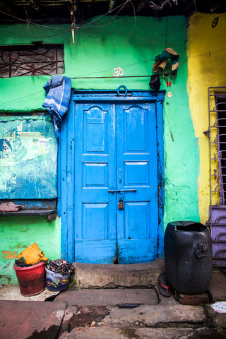 Blue Door - fotokunst von Miro May