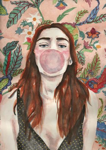 Bubblegum and pattern - fotokunst von Andy McFly