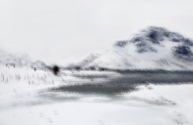 Winterlandschaft - fotokunst von Victoria Knobloch