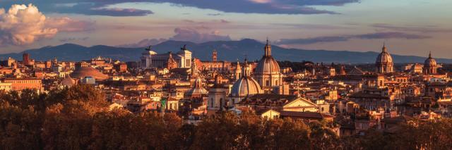 Rom Panorama - fotokunst von Jean Claude Castor