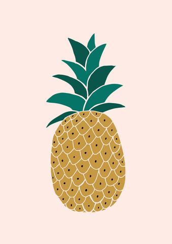 Pineapple - fotokunst von Dunia Nalu