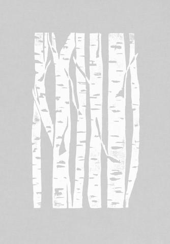 Woodcut Birken auf Grau - fotokunst von Bianca Green