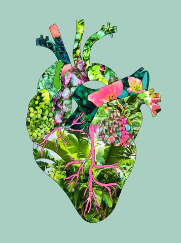 Mein Botanisches Herz Grün - fotokunst von Bianca Green