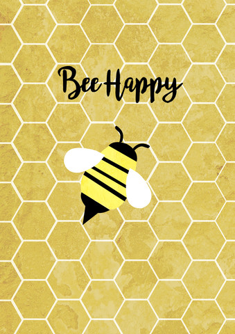Bee Happy - fotokunst von Katherine Blower