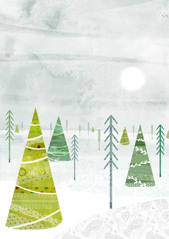 Christmas Forest - fotokunst von Katherine Blower