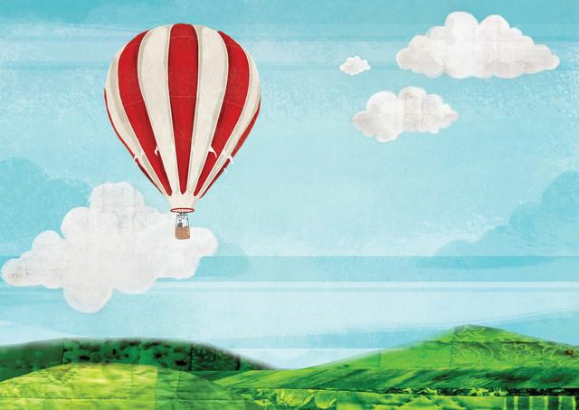 Hot Air Balloon Ride - fotokunst von Katherine Blower