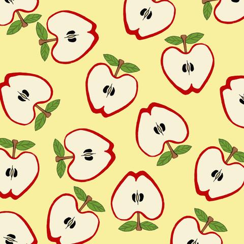 Red Apple Pattern Design - fotokunst von Katherine Blower