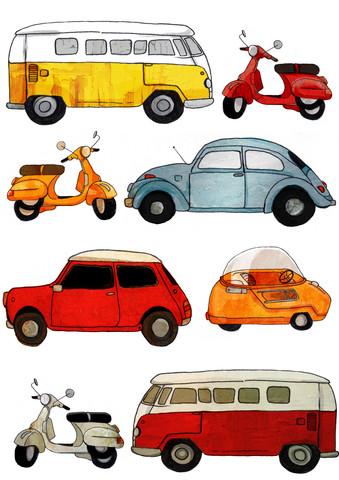 Retro vehicles - fotokunst von Katherine Blower