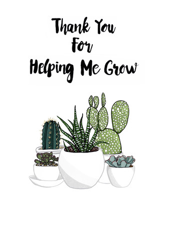 Thank you For Helping Me Grow - fotokunst von Katherine Blower