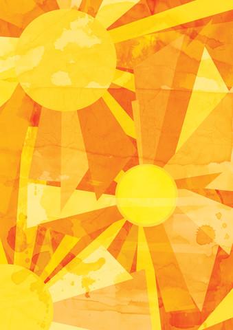 Sun Pattern - fotokunst von Katherine Blower