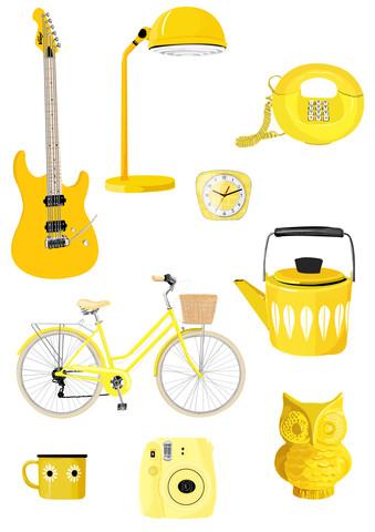 Retro Yellow - fotokunst von Katherine Blower