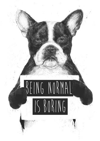 Being normal is boring - fotokunst von Balazs Solti
