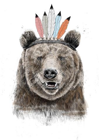 Festival bear - fotokunst von Balazs Solti