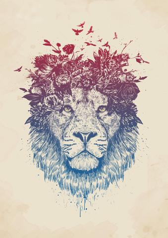 Floral lion - fotokunst von Balazs Solti