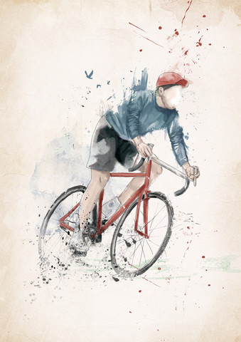 I want to ride my bicycle - fotokunst von Balazs Solti